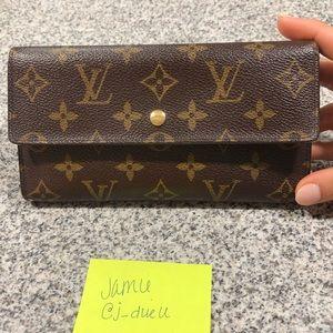 Auth Louis Vuitton Monogram Porte Tresor Wallet